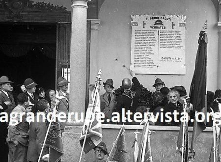 """La targa """"fascista"""" dei caduti del Vernato."""